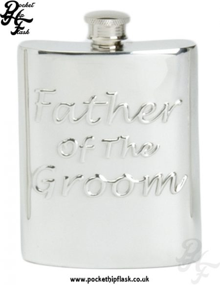 6oz Pewter Hip Flask Father of the Groom