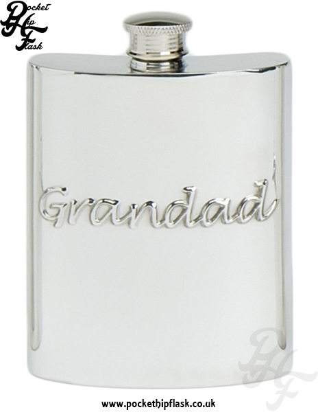 6oz Pewter Hip Flask Grandad