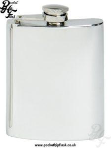 plain 6oz pewter hip flask