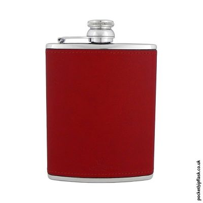 6oz-Red-Luxury-Leather-Stainless-Steel-Hip-Flask