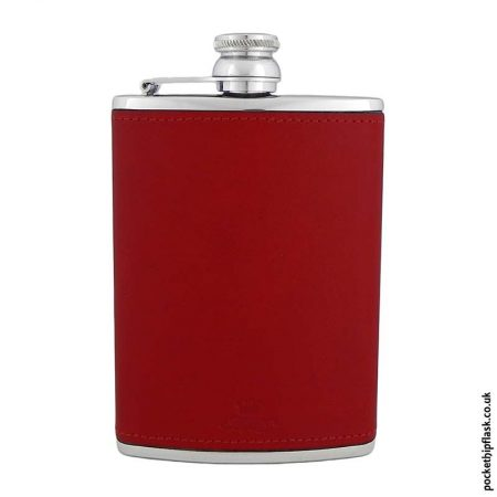 8oz-Red-Luxury-Leather-Stainless-Steel-Hip-Flask