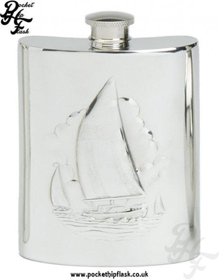6oz Pewter Boating Hip Flask