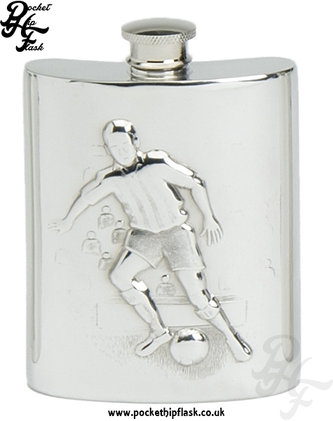 6oz Pewter Football Hip Flask