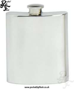 8oz Plain Pewter Hip Flask
