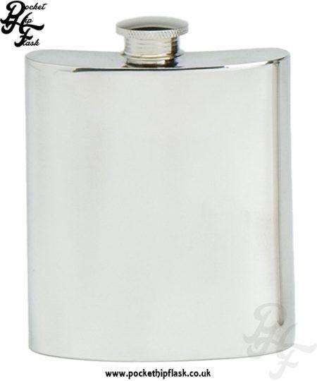 8oz Plain Pewter Hip Flask