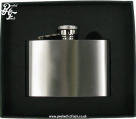 4oz Brushed Finish Stainless Steel Hip Flask