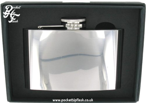 4oz Shiny Polished Finish Stainless Steel Hip Flask