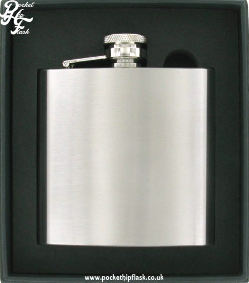 6oz Brushed Finish Stainless Steel Hip Flask