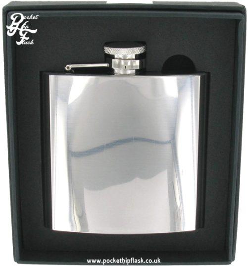 6oz Shiny Polished Finish Stainless Steel Hip Flask