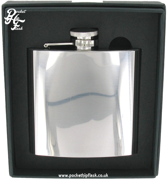 6oz Shiny Polished Finish Stainless Steel Hip Flask