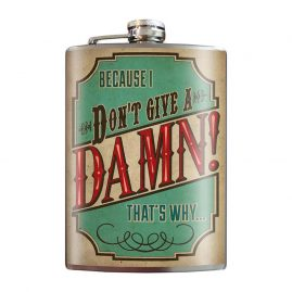 Don't-give-a-damn-8oz-Stainless-Steel-Hip-Flask