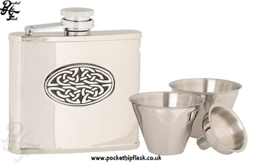 4oz Stainless Steel Cup Set with Celtic Badge