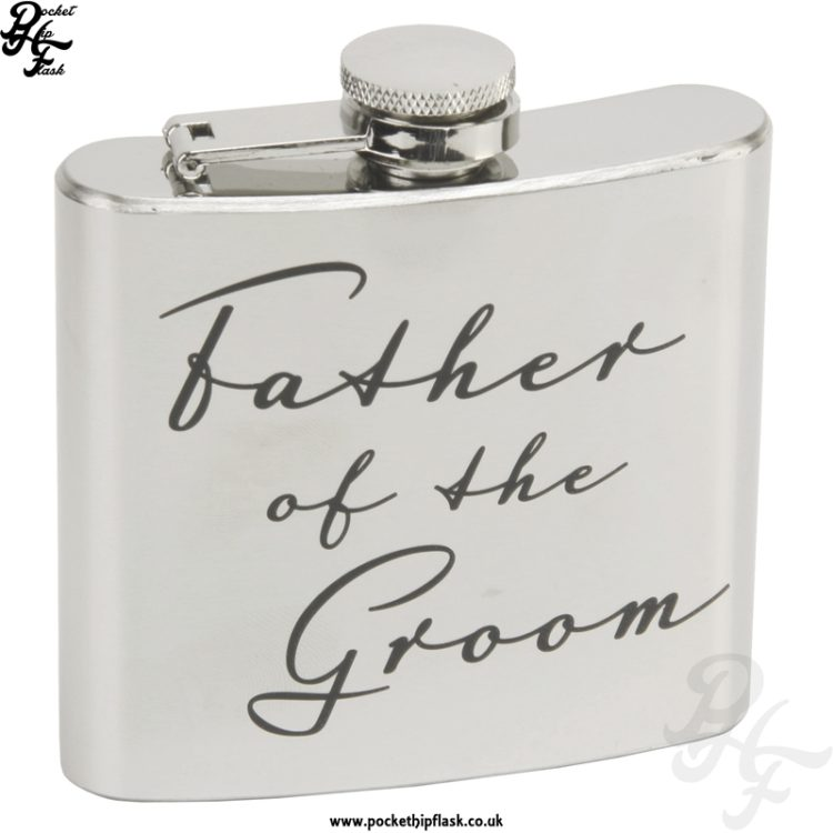 5oz Stainless Steel Father of the Groom Hip Flask