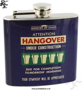 5oz Stainless Steel Hangover Under Construction Hip Flask