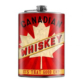 Canadian-Whiskey-8oz-Stainless-Steel-Hip-Flasks