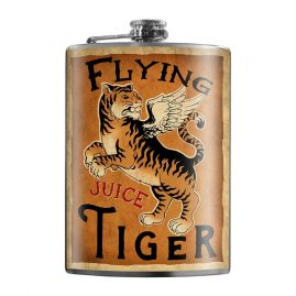 Flying-Tiger-Juice-8oz-Stainless-Steel-Hip-Flask