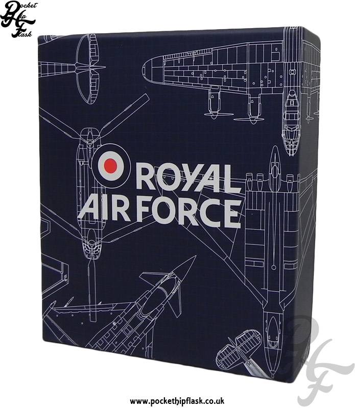 Official raf typhoon fgr4 blueprint stainless steel hip flask 5oz raf blueprint hip flask box malvernweather Choice Image