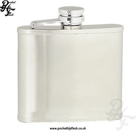 4oz Brushed Stainless Steel Hip Flask