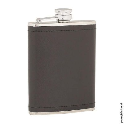 6oz-Stainless-Steel-Hip-Flask-Wrapped-in-Black-Leather