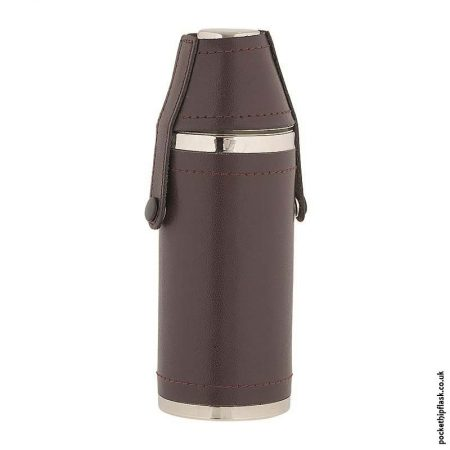 8oz-Stainless-Steel-Hunters-Flask-Wrapped-in-Burgundy-Leather