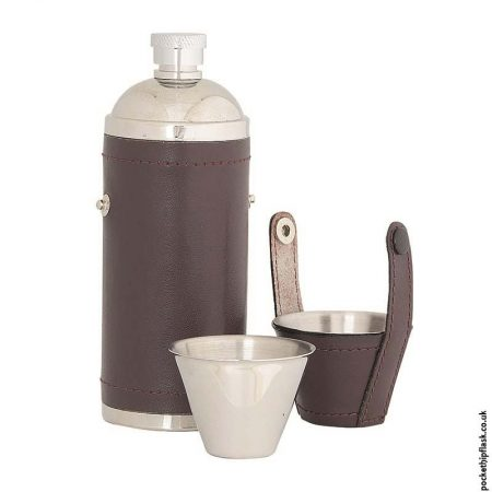 8oz-Stainless-Steel-Hunters-Flask-Wrapped-in-Burgundy-Leather-Open