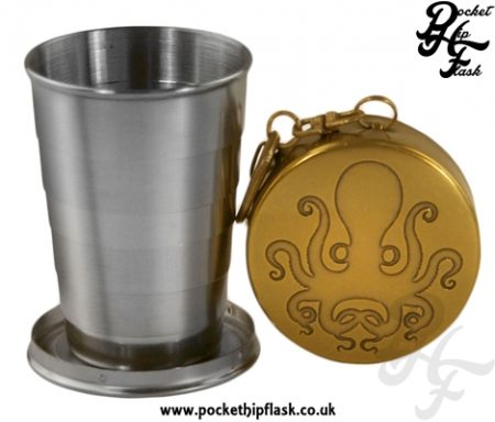 Collapsible shot glass, Travel Cup, Octopus