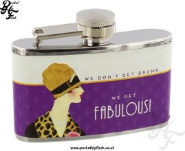 3oz Stainless Steel Jitterbug Hip Flask - We Get Fabulous