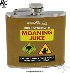 5oz Stainless Steel Hip Flask - Moaning Juice