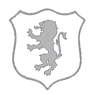 Lion Shield engraving logo