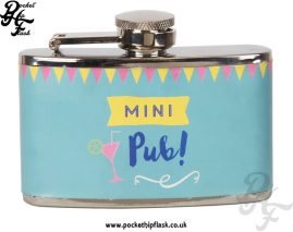 Stainless Steel 3oz Ladies Mini Pub Hip Flask
