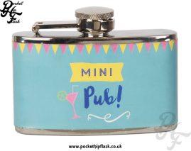 Stainless Steel 3oz Ladies Mini Pub Hip Flask