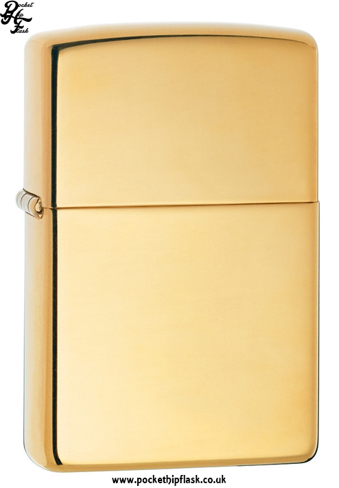 High Polish Shiny Brass Zippo Lighter