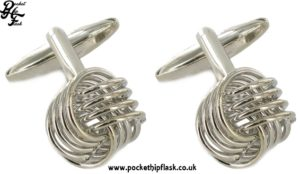 Knot Style Metal Dress Cufflinks