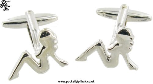Naked Women Novelty Shiny Metal Cufflinks