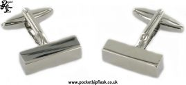 Rectangular Bar Metal Dress Cufflinks