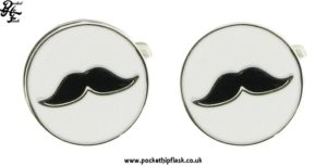 Round Moustache Metal Cufflinks