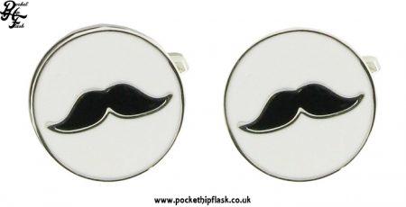 Round Moustache Metal Cufflinks