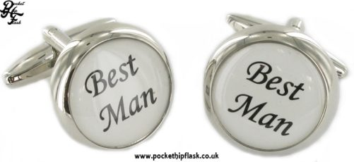 Round Wedding Metal Dress Cufflinks Best Man