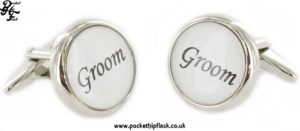 Round Wedding Metal Dress Cufflinks Groom