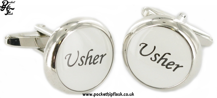 Round Wedding Metal Dress Cufflinks Usher