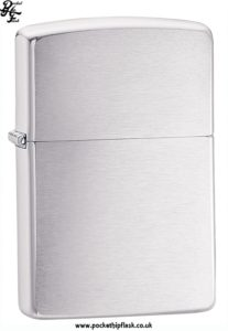 Shiny Chrome Zippo Lighter with Brushed effect