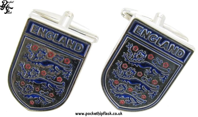 Shiny Metal three lions Metal Dress Cufflinks
