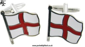 St. Georges Cross Flag Metal Cufflinks
