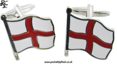 St. Georges Cross Flag Metal Cufflinks