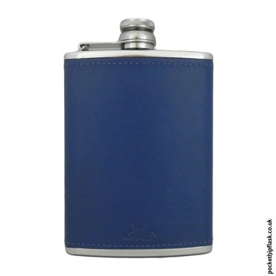 8oz-Light-Blue-Luxury-Leather-Stainless-Steel-Hip-Flask