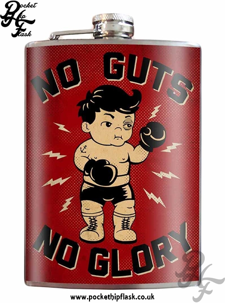 No Guts No Glory 8oz Stainless Steel Hip Flask