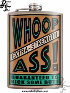 Whoop Ass! 8oz Stainless Steel Hip Flask