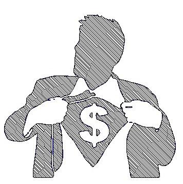 Money-super-man-logo-engraving