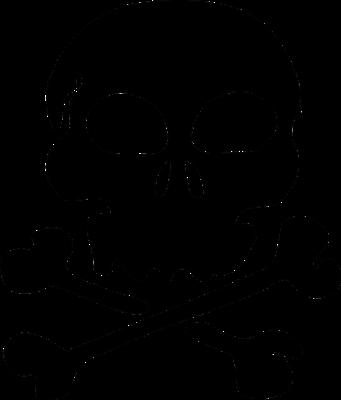 Skull and Crossbones Logo Image for Hip Flask Engraving 032