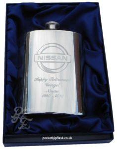 hip-flask-logo-engraving-nissan